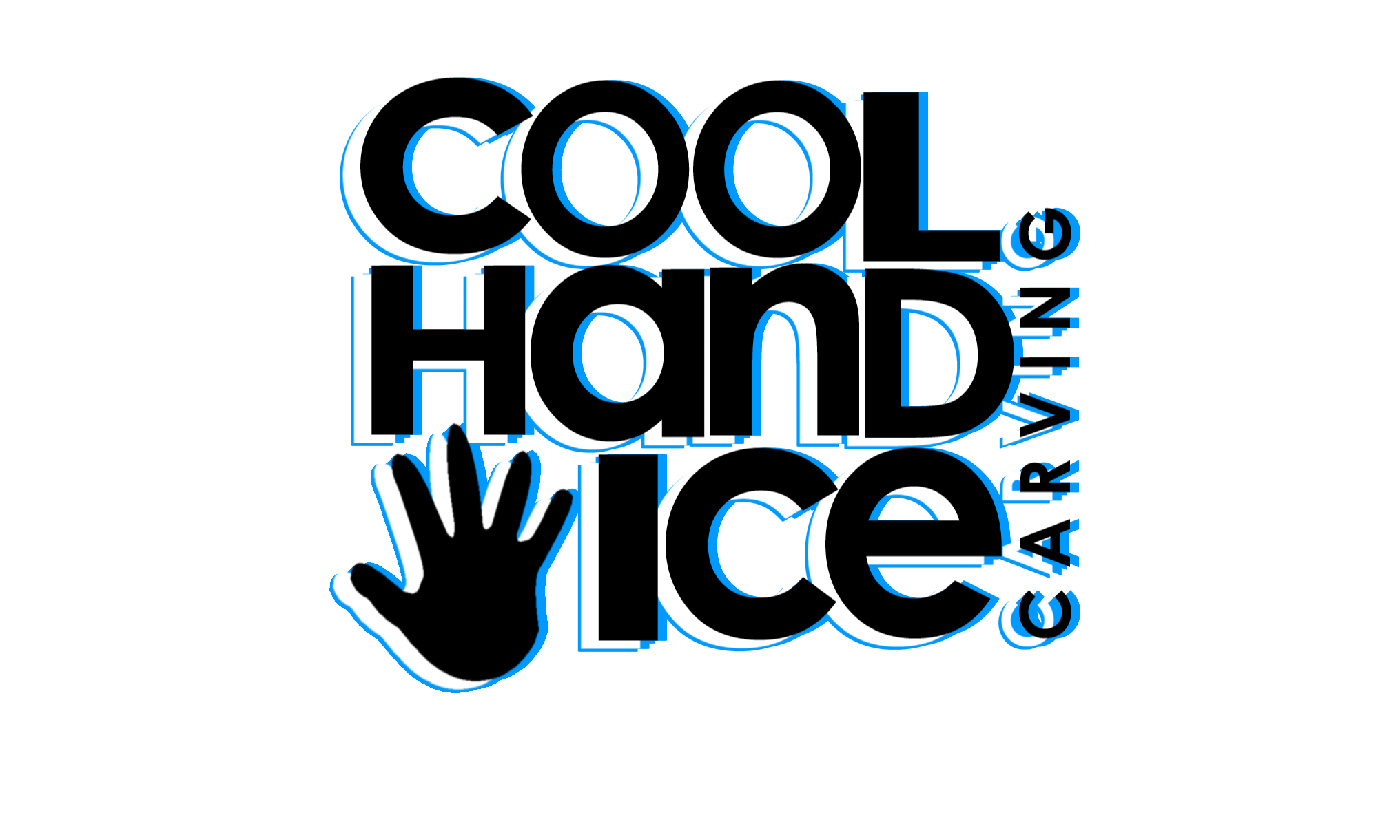 Cool Hand Ice logo blue PNG